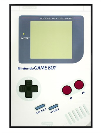 Gloss Black Framed Game Boy - Nintendo