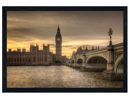 Black Wooden Framed Big Ben - A Watchful Eye Over London