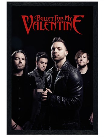Black Wooden Framed Band Picture - Bullet For My Valentine