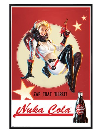 Gloss Black Framed Zap That Thirst Nuka Cola - Fallout 4