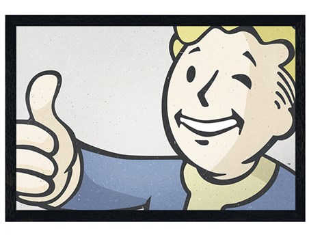 Black Wooden Frame Thumb's Up - Fallout 4 Vault Boy