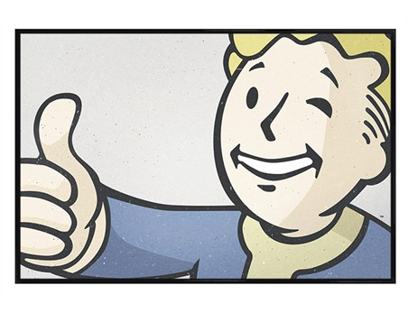 Gloss Black Framed Vault Boy - Fallout 4