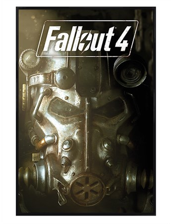 Framed Gloss Black Framed Nuclear Mask - Fallout 4