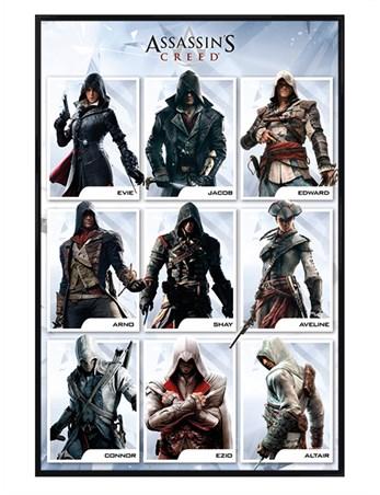 Gloss Black Framed The Brotherhood Evolution - Assassins Creed