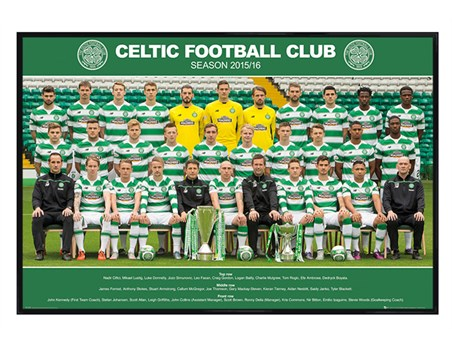 Gloss Black Framed Team Photo 2015/16 - Celtic Football Club