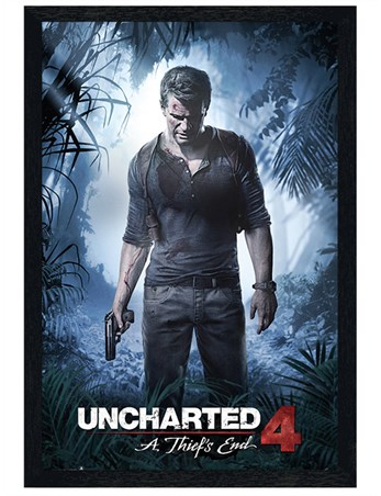 Black Wooden Framed A Thiefs End - Uncharted 4