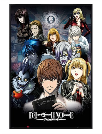 Gloss Black Framed Characters - Death Note