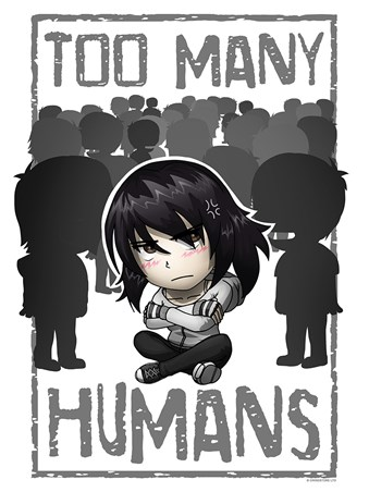 Too Many Humans Mini Poster -