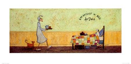 Breakfast In Bed For Doris - Sam Toft Breakfast In Bed For Doris Art Print