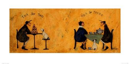 Framed Tea For Two Tea For Three - Sam Toft