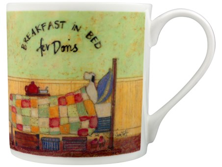 Breakfast In Bed For Doris - Sam Toft, Bone China Mug