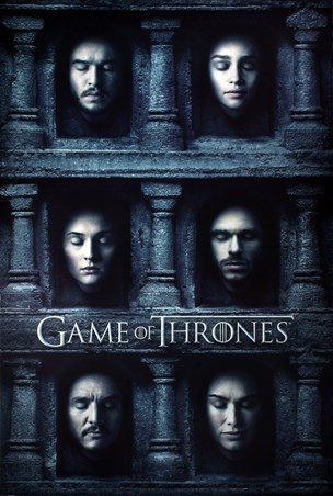 Framed Hall Of Faces - Game Of Thrones