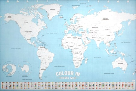 Colour In, World Map