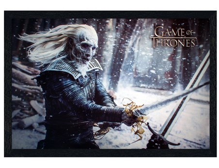 Black Wooden Framed Wicked White Walker - Game Of Thrones