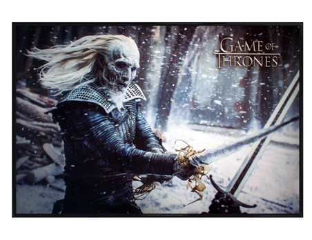 Gloss Black Framed White Walker - Game Of Thrones