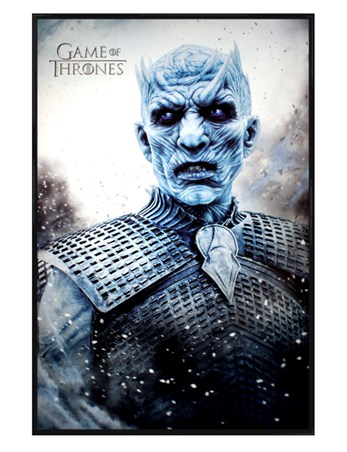 Gloss Black Framed The Night King - Game Of Thrones