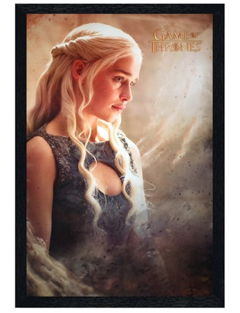 Black Wooden Framed Daenarys - Game Of Thrones