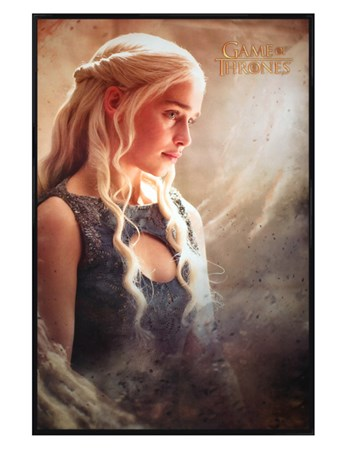 Framed Gloss Black Framed Daenarys - Game Of Thrones