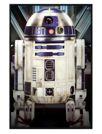 Gloss Black Framed The Reliable Droid R2-d2 - Star Wars Episode VII