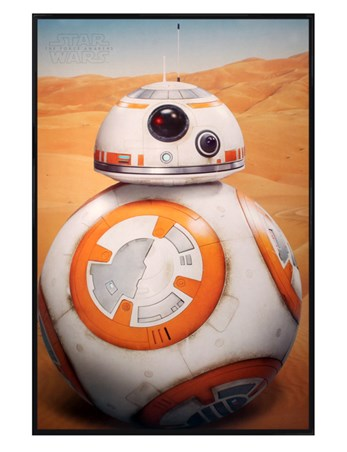 Gloss Black Framed Introducing BB-8 - Star Wars Episode VII