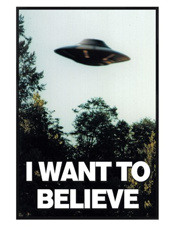 Gloss Black Framed I Want To Believe - The X-files