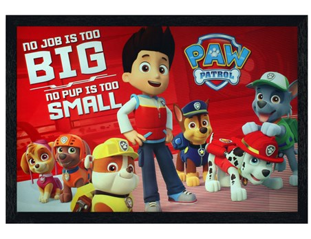 Framed Black Wooden Framed No Pup Is Too Small - Paw Patrol