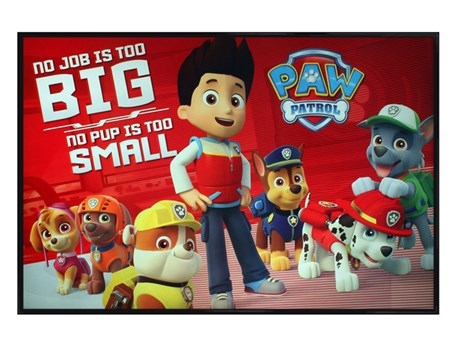 Gloss Black Framed No Pup Is Too Small - Paw Patrol