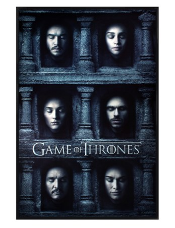 Gloss Black Framed Hall Of Faces - Game Of Thrones