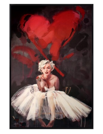 Gloss Black Framed Paint By James Patterson - Marilyn Monroe