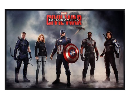 Gloss Black Framed Team Captain America - Captain America Civil War