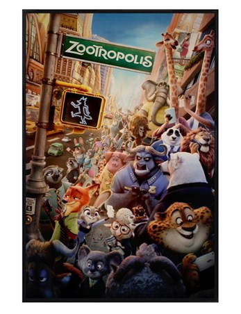 Gloss Black Framed Movie One Sheet - Zootropolis