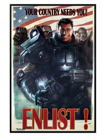 Gloss Black Framed Enlist! - Fallout 4