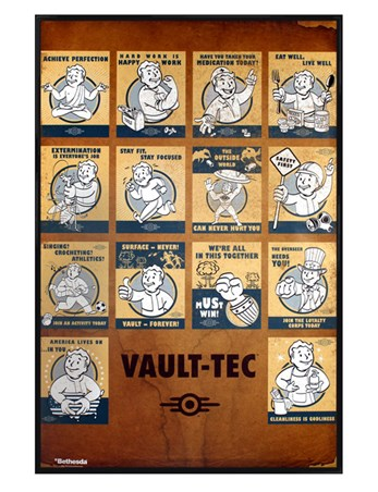 Gloss Black Framed Vault Tec Compilation - Fallout 4