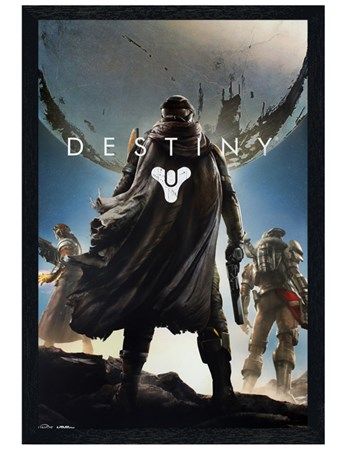 Black Wooden Framed Guardian Cover Art - Destiny