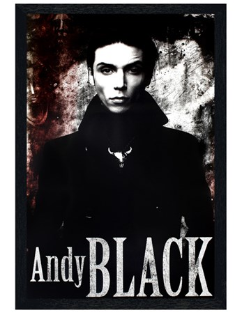 Black Wooden Framed Andy Black - Black Veil Brides