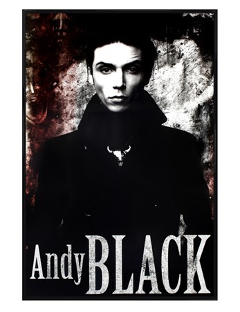 Gloss Black Framed Monochrome Portrait - Andy Black