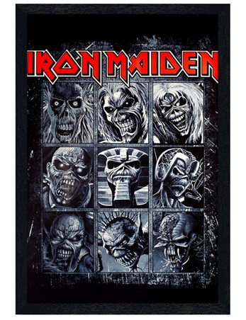 Black Wooden Framed Nine Eddies - Iron Maiden
