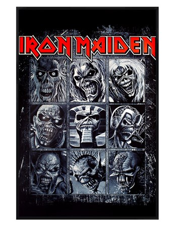 Gloss Black Framed Nine Eddies - Iron Maiden