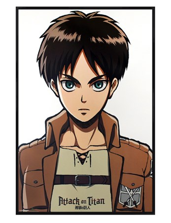 Framed Gloss Black Framed Eren - Attack On Titan