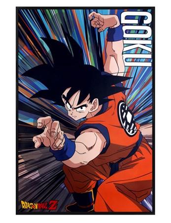 Gloss Black Framed Goku Battle Stance - Dragon Ball Z