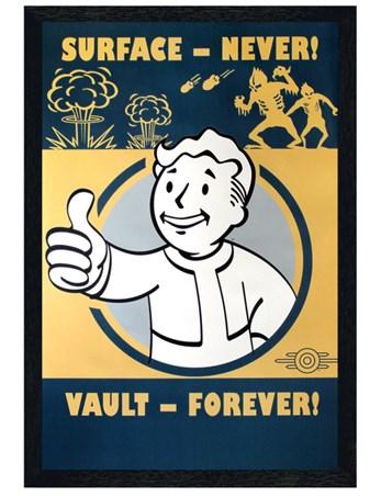 Black Wooden Framed Vault Forever - Fallout 4