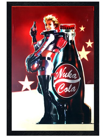 Black Wooden Framed Nuka Cola Poster - Fallout 4