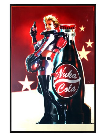 Framed Gloss Black Framed Nuka Cola Poster - Fallout 4