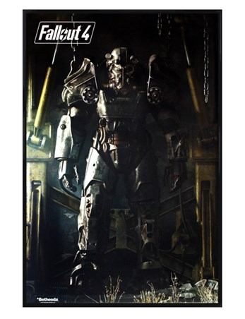 Gloss Black Framed Power Armour - Fallout 4