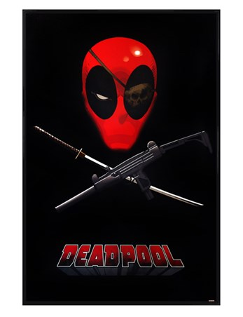 Gloss Black Framed Eye Patch Of A Mercenary - Deadpool