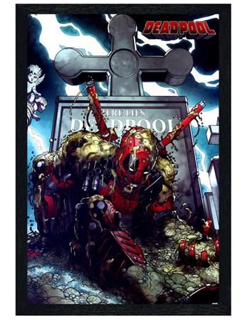 Black Wooden Framed Grave - Deadpool