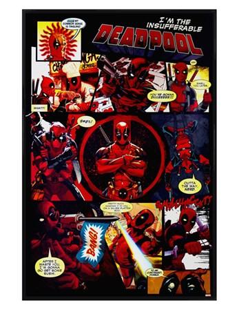 Gloss Black Framed Panels - Deadpool