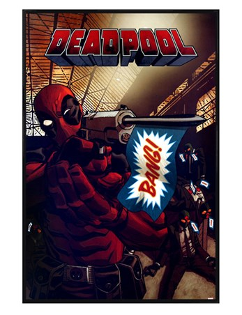 Gloss Black Framed Bang - Deadpool
