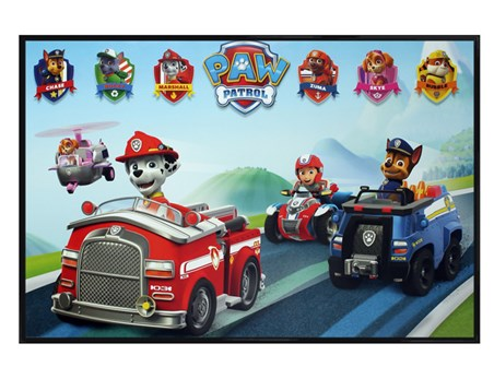 Gloss Black Framed Puppy Vehicles - Paw Patrol