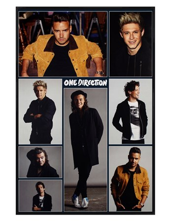 Gloss Black Framed Grid - One Direction